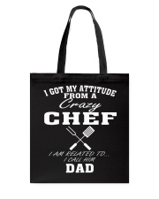 DAD IS A CRAZY CHEF Tote Bag thumbnail