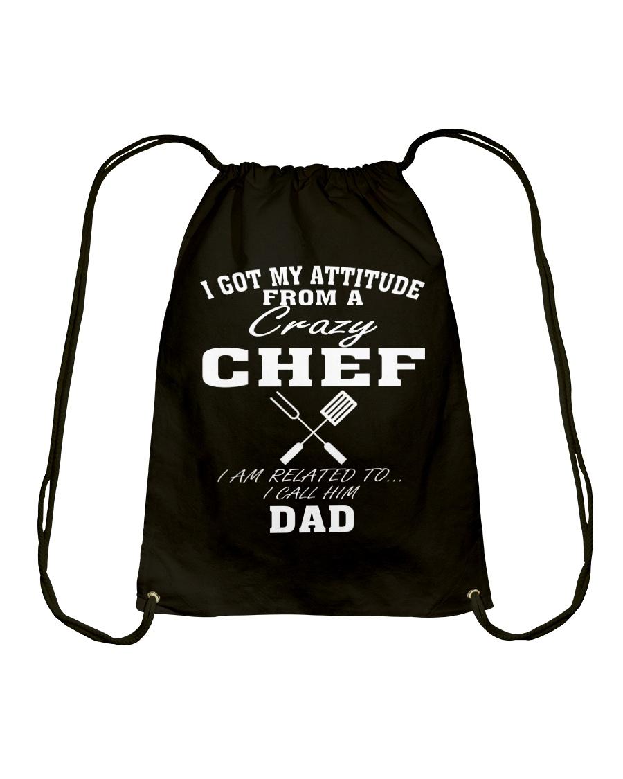 DAD IS A CRAZY CHEF Drawstring Bag