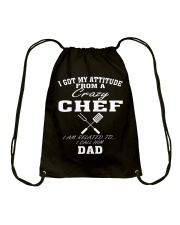 DAD IS A CRAZY CHEF Drawstring Bag thumbnail