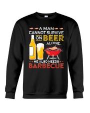 LOVE BURN FOOD BBQ GRILL 7 Crewneck Sweatshirt thumbnail