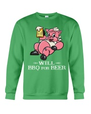 Will BBQ for BEER Crewneck Sweatshirt front