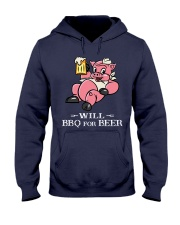 Will BBQ for BEER Hooded Sweatshirt front