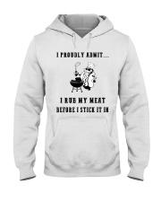 Rub my meat before I stick it in  Hooded Sweatshirt thumbnail