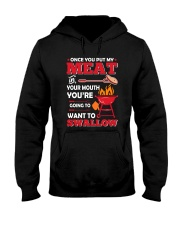 LOVE BURN FOOD BBQ GRILL 5 Hooded Sweatshirt thumbnail