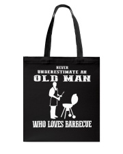 Never Underestimate an old man Tote Bag thumbnail