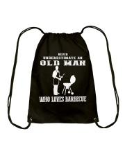 Never Underestimate an old man Drawstring Bag thumbnail
