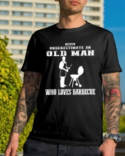 Never Underestimate an old man Classic T-Shirt lifestyle-mens-crewneck-front-8