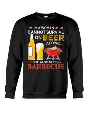 LOVE BURN FOOD BBQ GRILL 8 Crewneck Sweatshirt thumbnail