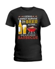 LOVE BURN FOOD BBQ GRILL 8 Ladies T-Shirt thumbnail
