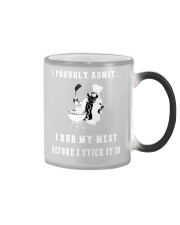 Rub my meat before I stick it in black edition Color Changing Mug thumbnail