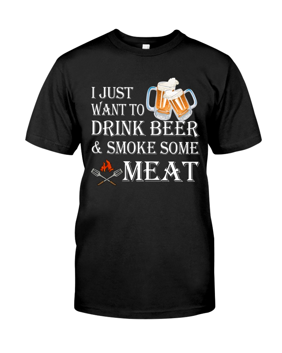 I just want to drink beer and smoke some meat Premium Fit Mens Tee showcase
