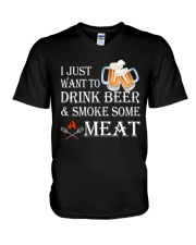 I just want to drink beer and smoke some meat V-Neck T-Shirt thumbnail