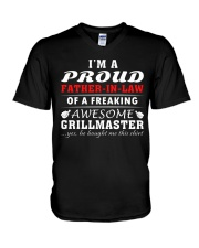 FATHER-IN-LAW GRILLMASTER V-Neck T-Shirt thumbnail