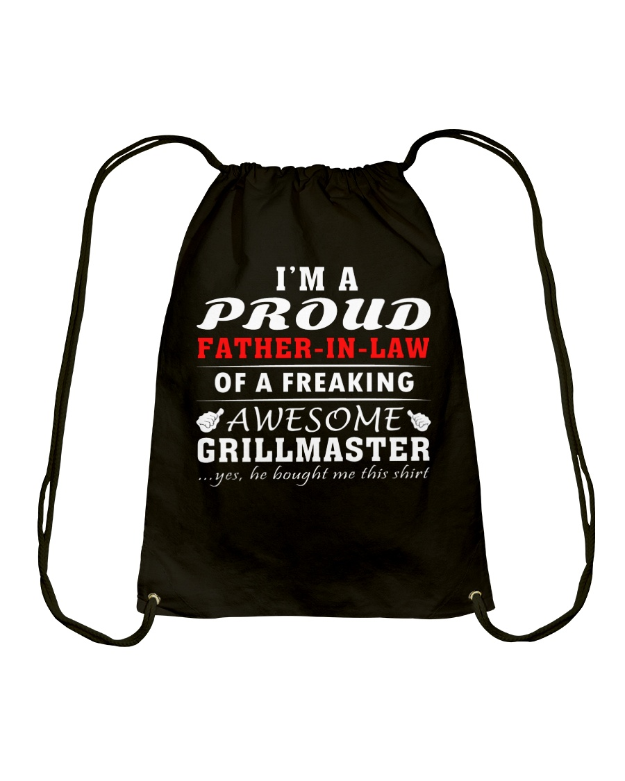 FATHER-IN-LAW GRILLMASTER Drawstring Bag