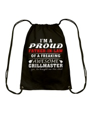 FATHER-IN-LAW GRILLMASTER Drawstring Bag front