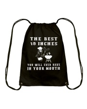 THE BEST 10 INCHES BBQ GRILL T-SHIRT Drawstring Bag tile