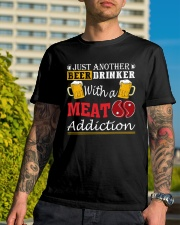 Just another beer drinker with a meat addiction Classic T-Shirt lifestyle-mens-crewneck-front-8