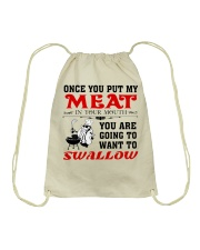 You want to swallow meat Drawstring Bag tile