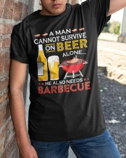 A Man Cannot Survive on Beer Alone Classic T-Shirt apparel-classic-tshirt-lifestyle-27