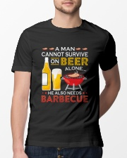 A Man Cannot Survive on Beer Alone Classic T-Shirt lifestyle-mens-crewneck-front-13