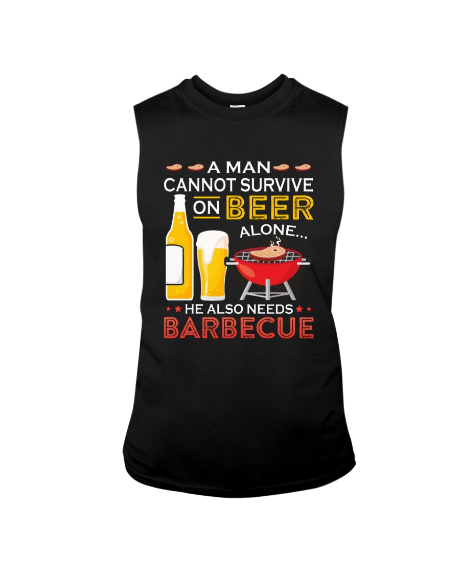A Man Cannot Survive on Beer Alone Sleeveless Tee