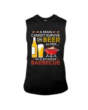A Man Cannot Survive on Beer Alone Sleeveless Tee thumbnail