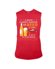 A Man Cannot Survive on Beer Alone Sleeveless Tee front