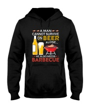 A Man Cannot Survive on Beer Alone Hooded Sweatshirt tile