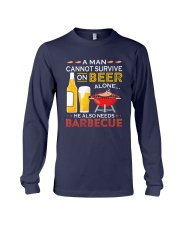 A Man Cannot Survive on Beer Alone Long Sleeve Tee front