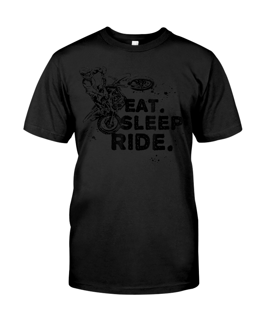 Eat Sleep Ride Motocross - Classic T-Shirt