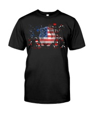 American Flag Guinea Pig Patrioti Classic T-Shirt thumbnail