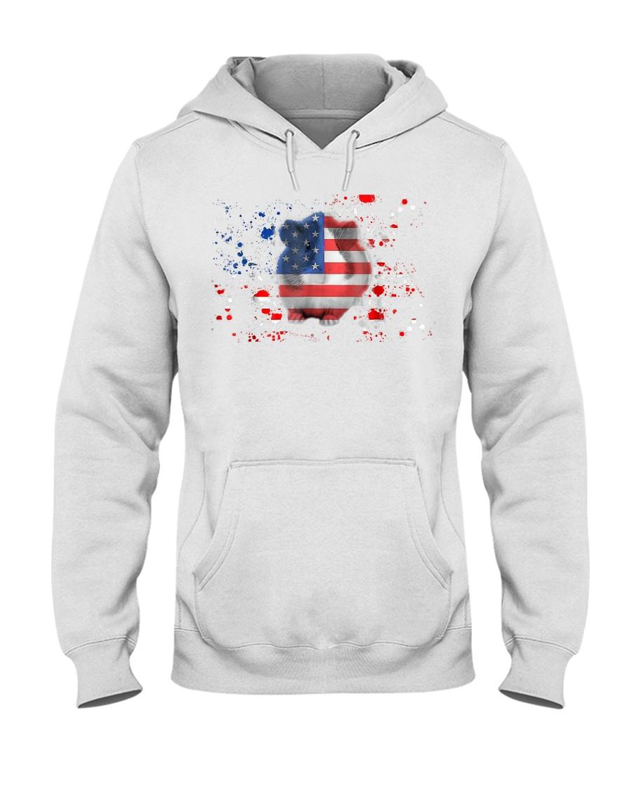 American Flag Guinea Pig Patrioti Hooded Sweatshirt