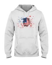 American Flag Guinea Pig Patrioti Hooded Sweatshirt front