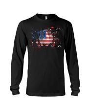 American Flag Guinea Pig Patrioti Long Sleeve Tee thumbnail