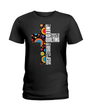 Funny Christian Quilter Sewi Ladies T-Shirt thumbnail