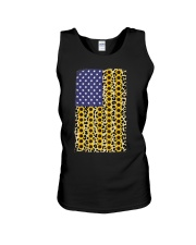 American Flag Leopard Sunflowe Unisex Tank thumbnail