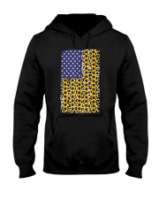 American Flag Leopard Sunflowe Hooded Sweatshirt thumbnail