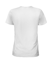 American Flag Leopard Sunflowe Ladies T-Shirt back