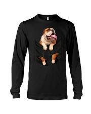 English Bulldog Pocket Long Sleeve Tee thumbnail