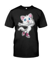 Figure Skating Cat T-Shirt K Classic T-Shirt front