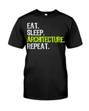 Eat Sleep Architecture Repe Classic T-Shirt thumbnail