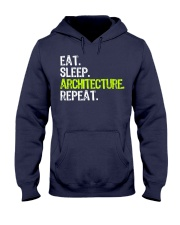 Eat Sleep Architecture Repe Hooded Sweatshirt front