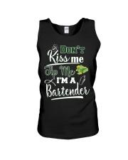 Don't Kiss Me Tip Me I'm A Bartende Unisex Tank thumbnail