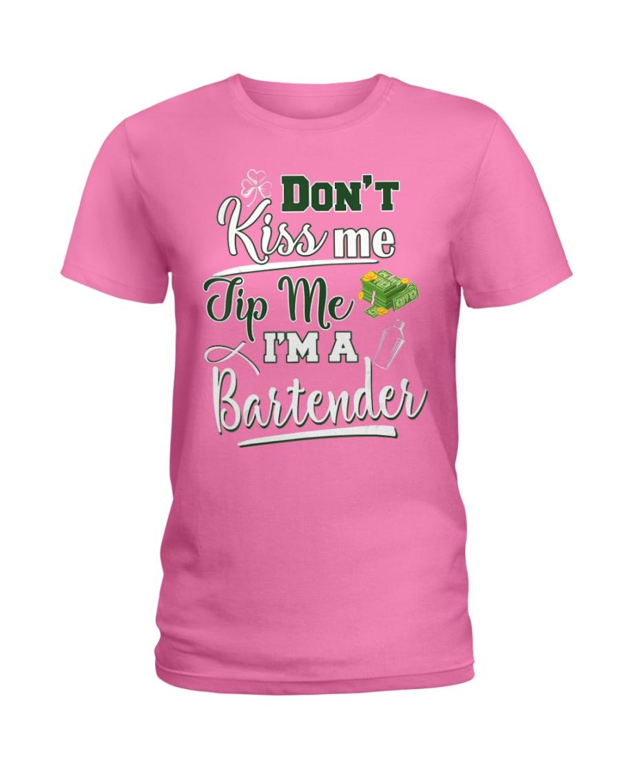 Don't Kiss Me Tip Me I'm A Bartende Ladies T-Shirt