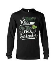 Don't Kiss Me Tip Me I'm A Bartende Long Sleeve Tee thumbnail
