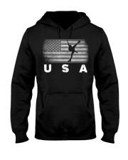 American Flag Figure Skating   Hooded Sweatshirt thumbnail