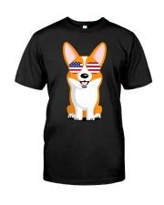 Corgi Sunglasses American T S Classic T-Shirt front