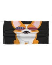 Corgi Sunglasses American T S Cloth face mask thumbnail