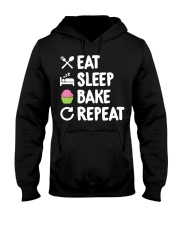 Eat Sleep Bake Repeat Bakery Funn Hooded Sweatshirt tile