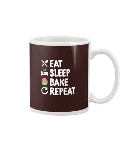 Eat Sleep Bake Repeat Bakery Funn